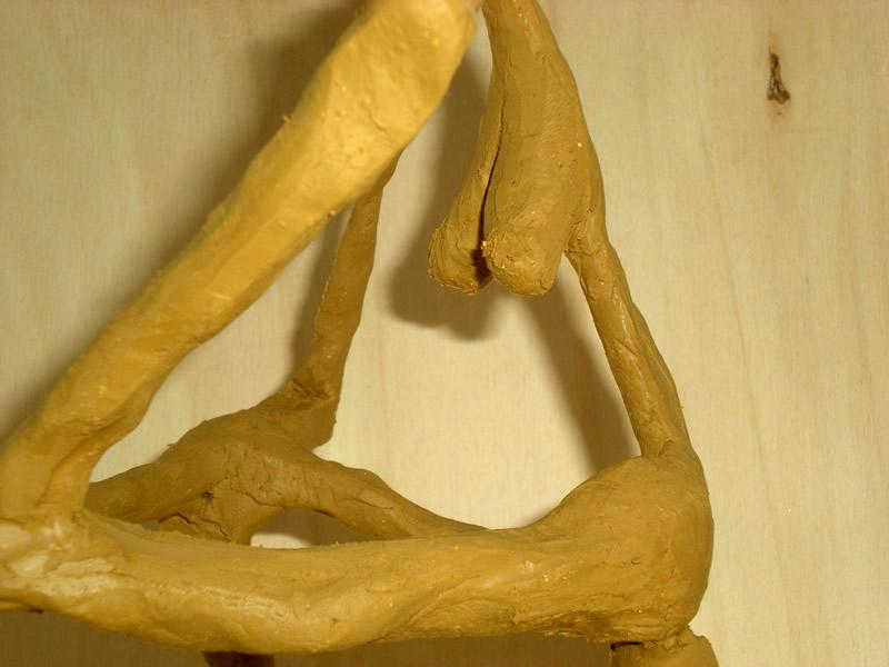 Johann Moser, Skulptur, Ton- und Draht